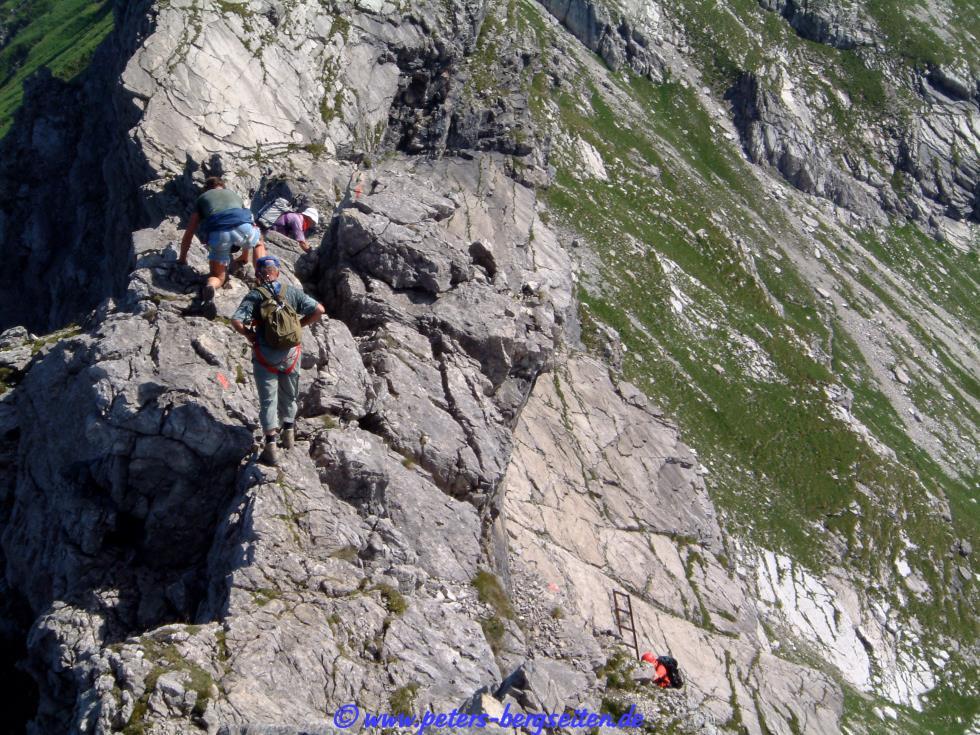 Hindelanger Klettersteig Ungesicherte Stellen : Klettersteige oberstdorf kleinwalsertal hotel bergruh
